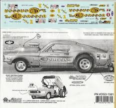 Malco Gasser Mustang Nhra Drag 1 25th 1 24th Scale Waterslide Decal 1981 Ebay
