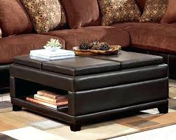 square coffee table with ottomans
