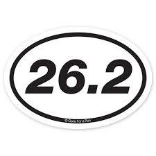 26 2 Marathon Decal Black White Running Decals Marathon Decal