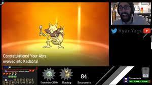 Shiny Abra via SOS evolves into Kadabra in Pokemon Sun and Moon ...