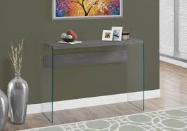 accent table 44 l grey tempered glass