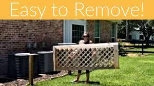 Removable Diy Lattice Screen Panel Diy Lattice Fence Aka My Most Trolled Project Youtube