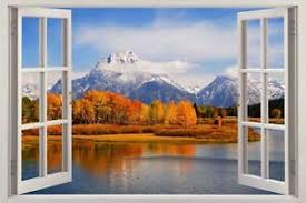 Mountain Forest 3d Window View Decal Wall Sticker Decor Art Mural Scenic View Ebay