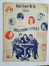 Don T Fence Me In 1944 Sheet Music By Cole Porter Ebay