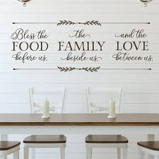 Bless The Food Before Us Wall Decal Dining Room Wall Art Etsy
