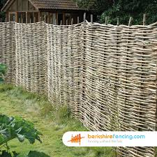 Willow Hurdles Fence Panels 4ft X 6ft Natural Berkshire Fencing