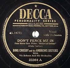 Don T Fence Me In The Three Caballeros By Bing Crosby And The Andrews Sisters Single Traditional Pop Reviews Ratings Credits Song List Rate Your Music