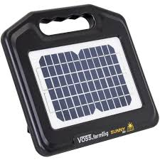 Voss Farming Solar Energiser Sunny 800 Incl 12v Agm Rechargeable Battery Mains Adapter
