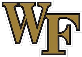 Amazon Com Wake Forest 6 Logo Auto Decal Arts Crafts Sewing