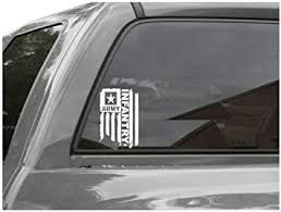 Amazon Com Distressed United States Sticker Army Flag Infantry Decal For Truck Car Window Laptop Vinyl Bumper Us 4 6 In Black Arts Crafts Sewing