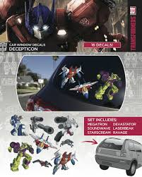 Transformers Decepticon Family Pack Car Window Decal