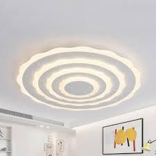 white fl led flush mount light