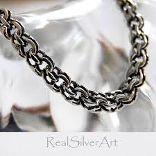 solid silver chain handmade jewelry