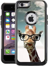 Amazon Com Teleskins Protective Designer Vinyl Skin Decals Compatible With Otterbox Commuter Iphone 6 6s Case Cover Hipster Giraffe Geek Glass Design Pattern Only Skins And Not Case