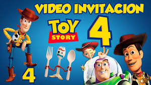 Toy Story 4 Disney Pixarvideo Invitacion Animada Youtube