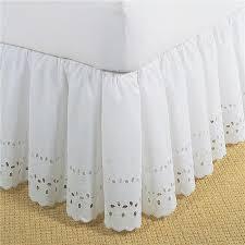 fresh ideas fre30014whit01 bed skirt