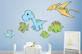 Cute Dinosaur Friends Wall Decal Sticker Set Wall Decal Wallmonkeys Com
