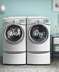 Wash Dry Vinyl Decal Laundry Room Home Decor Washer Etsy