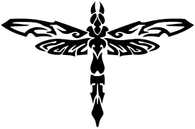 Dragonfly Vinyl Decal Car Window Wall Bumper Sticker Tribal Insect Dam Decals Hut