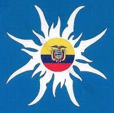 Ecuador Flag Sun Car Sticker Decal On Popscreen