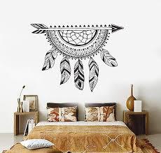 Vinyl Wall Decal Dream Catcher Arrow Dreamcatcher Ethnic Bedroom Stick Wallstickers4you