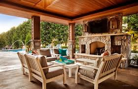 chimney outdoor patio covered decks