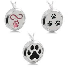 5pcs pet dog paw print magnetic perfume