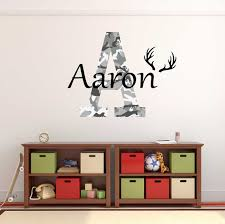 Personalized Name Camo Wall Decal Custom Name Hunting Wall Etsy