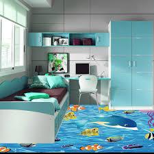Cartoon Fish 3d Floor Painting Kids Room Bathroom Bedroom Pvc Self Adhesive Vinyl Flooring Wall Paper 3 D Anti Wear Removable Floor Mural Painting Wallpaperwallpaper Waterproof Aliexpress