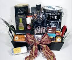 metro man upscale gift basket for men