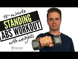 12 minute standing abs workout with