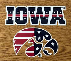 Iowa Patriotic Tigerhawk With Iowa Vinyl Decal