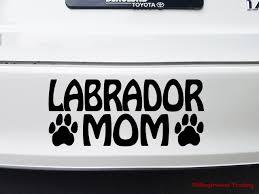 Labrador Mom Vinyl Decal Sticker Dog Paw Prints Chocolate Yellow Black Lab Retriever Minglewood Trading