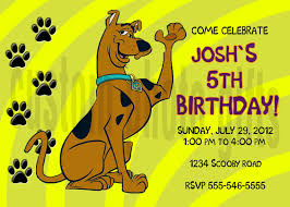 Scooby Doo Birthday Invitation Personalized Digital File 5 00