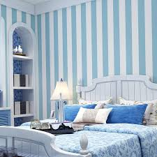 Pink Blue Wide Striped Wallpaper For Kids Room Wall Decal Self Adhesive Bedroom Living Room Stripes Wall Papers Home Decor Qz122 Wallpapers Aliexpress