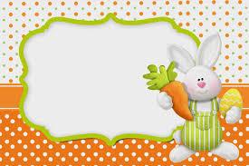 Pascua En Naranja Invitaciones Para Imprimir Gratis Tarjeta De
