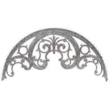 scroll arch galvanized metal wall decor