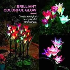 benuo solar garden lily stake light