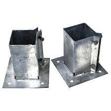 2 X Bolt Down Post Shoes 75 X 75mm Fence Fixing Hot Dipped Galvanised Hardware 12 99 Picclick Uk