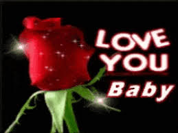 love you baby rose gif find share
