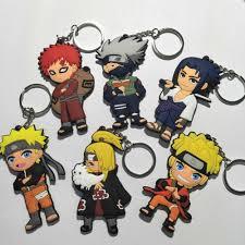 Naruto anime cosplay PVC keychain Uchiha Itachi Jiraiya Sasuke ...