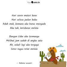 hari senin materi baru ha quotes writings by rahma susanti