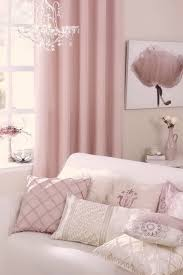 pink curtains pink living room