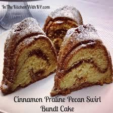 cinnamon praline pecan swirl bundt cake