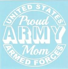 Proud Army Mom Car Truck Suv Military Vinyl Sticker Decal 3 50 Picclick