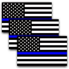 Anley 5 X 3 Inch Thin Blue Line Us Flag Decal Black White And Blue Reflective Stripe American Flag Car Stickers Support Police And Law Enforcement Officers 3 Pack Walmart Com Walmart Com
