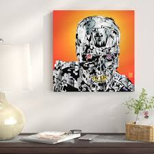 East Urban Home The Terminator Graphic Art On Wrapped Canvas Wayfair