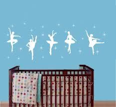 Wall Decor Home Kitchen 42x120cm Black Children Bedroom Decor Ballet Dance Ballerinas Stars Vinyl Wall Decals Art Stickers Dancing Ballet Nursery Room Kids Girls Room Decor Wall Sticker Kw 109