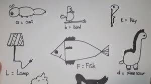 Dạy bé vẽ động vật từ bảng chữ cái - Nhím - YouTube