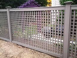 Grey Wood Lattice Fencing Wood Fence Pinterest Lattice Fence Grey Fences Fence Design